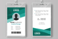 Elegant Id Card Design Template with regard to Id Card Template Ai