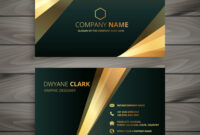 Elegant Premium Golden Business Card Template inside Buisness Card Templates