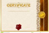 Elegant Template Of Certificate, Diploma Stock Illustration with regard to Elegant Certificate Templates Free