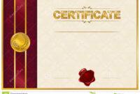 Elegant Template Of Certificate, Diploma Stock Illustration within Elegant Certificate Templates Free