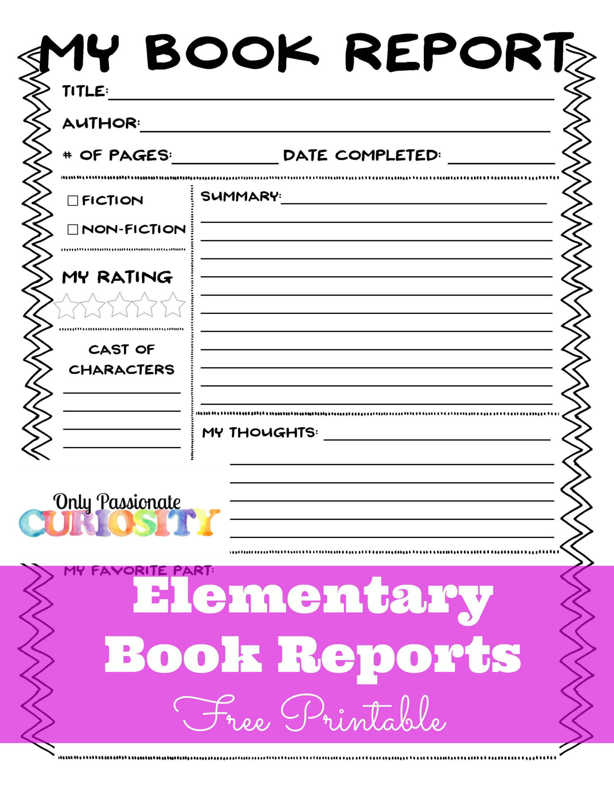 Elementary Book Reports Made Easy | Book Report Templates Regarding Book Report Template In Spanish