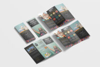 Elementary School Tri-Fold Brochure Design Template – 99Effects regarding Tri Fold School Brochure Template