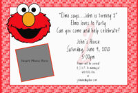 Elmo Birthday Invitation Template – Forza.mbiconsultingltd with regard to Elmo Birthday Card Template
