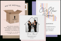 Email Online Moving Announcements That Wow! | Greenvelope for Moving Home Cards Template