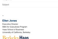 Email Signatures | Brand Toolkit | Berkeley Haas inside Graduate Student Business Cards Template