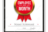 Employee Award Certificate Template Free Templates Design intended for Employee Of The Month Certificate Template