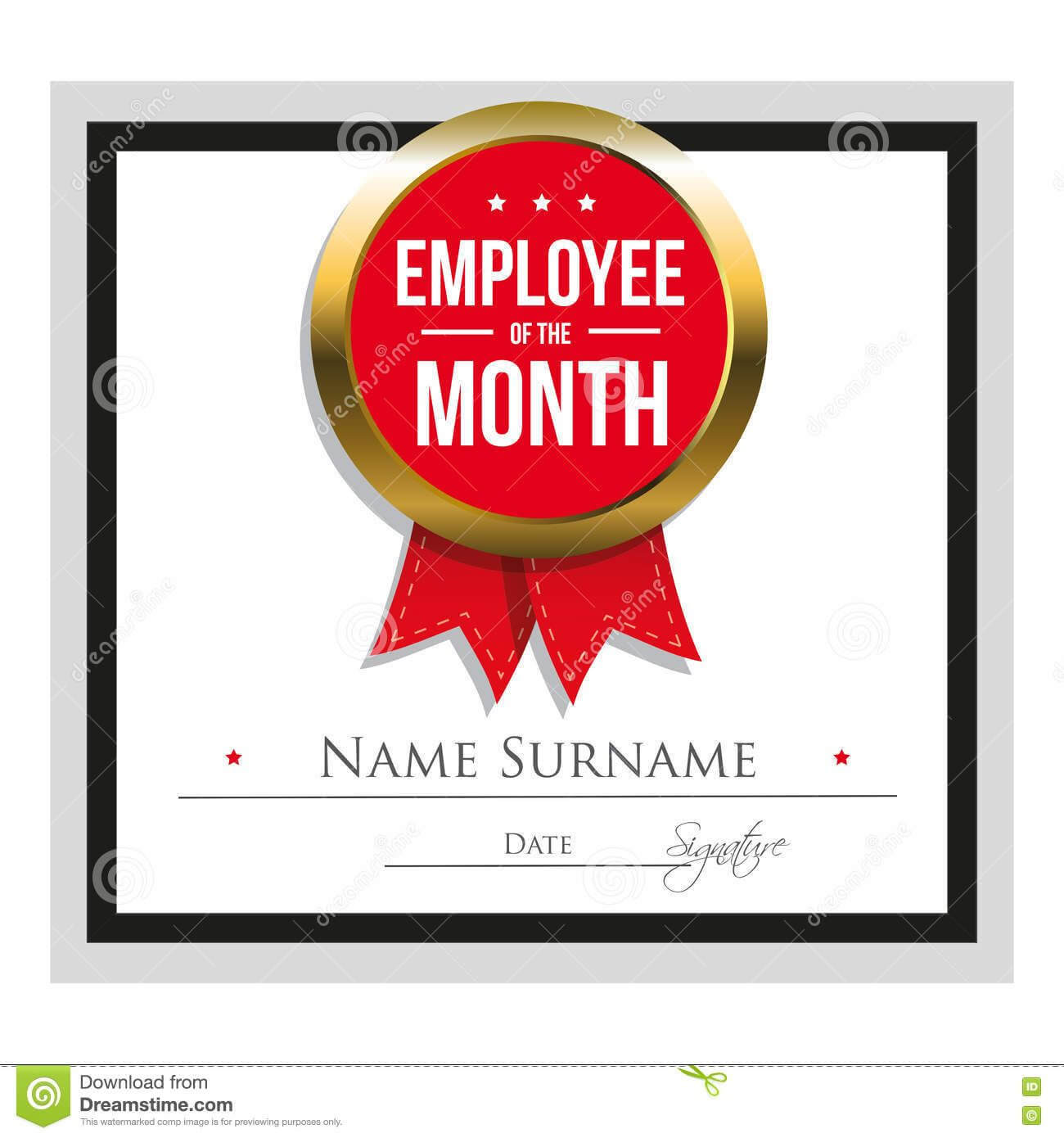 Employee Award Certificate Template Free Templates Design With Employee Of The Month Certificate Templates