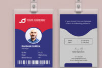 Employee Id Card Or Student Id Cardm M Rahman Sumon On Within Media Id Card Templates