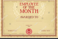 Employee Month Certificate Template Stock Vector (Royalty intended for Employee Of The Month Certificate Template