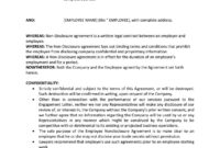 Employee Non Disclosure Agreement | Non Disclosure Agreement with Nda Template Word Document