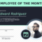 Employee Of The Month Certificate Of Recognition Template For Employee Of The Month Certificate Template With Picture