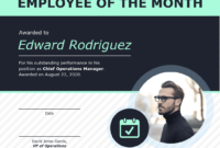 Employee Of The Month Certificate Of Recognition Template regarding Employee Of The Month Certificate Template
