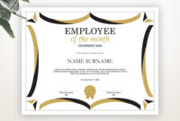 Employee Of The Month Editable Template Editable Award with Employee Of The Month Certificate Template