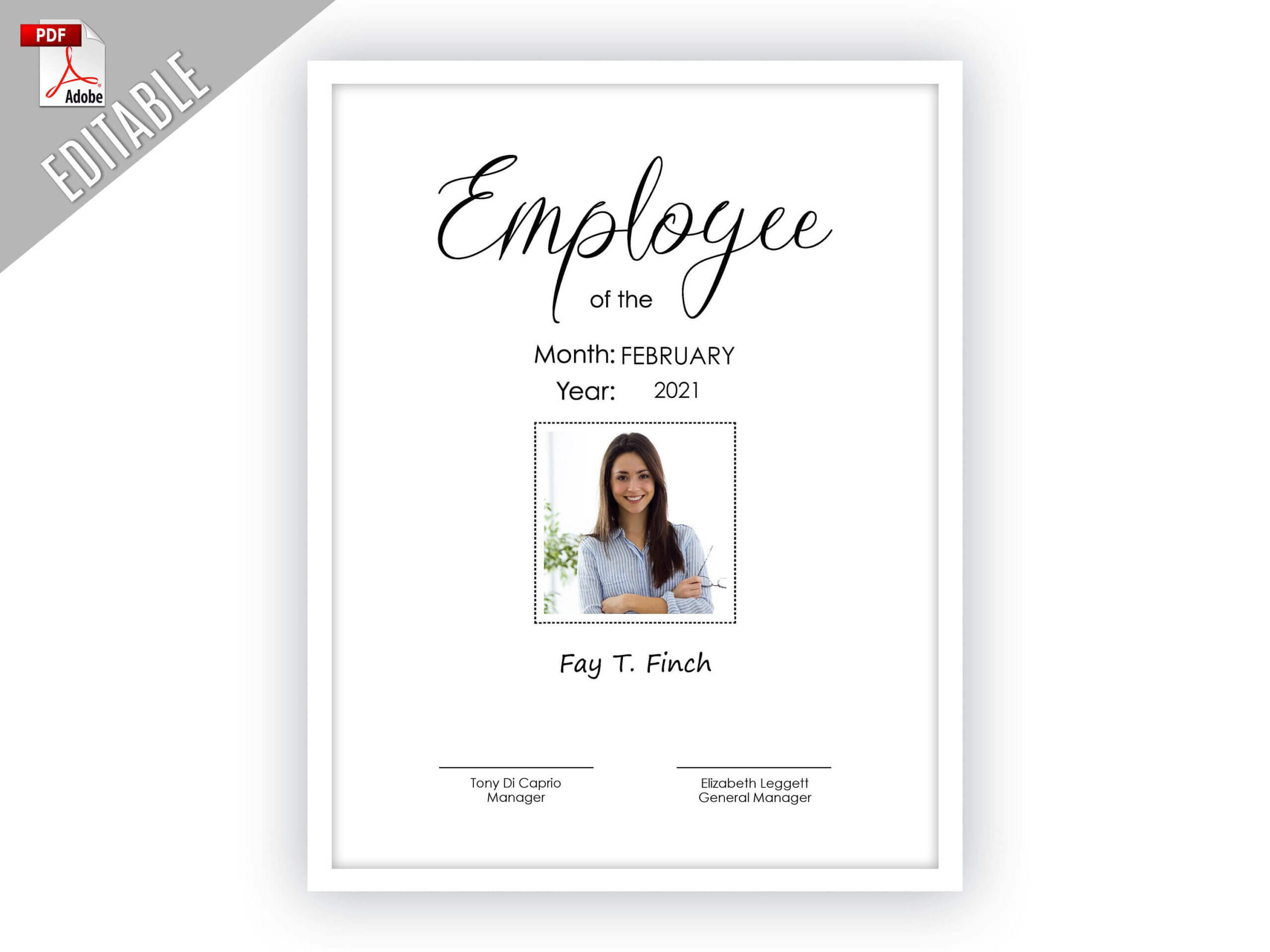 Employee Of The Month Editable Template Editable Picture Throughout Employee Of The Month Certificate Templates
