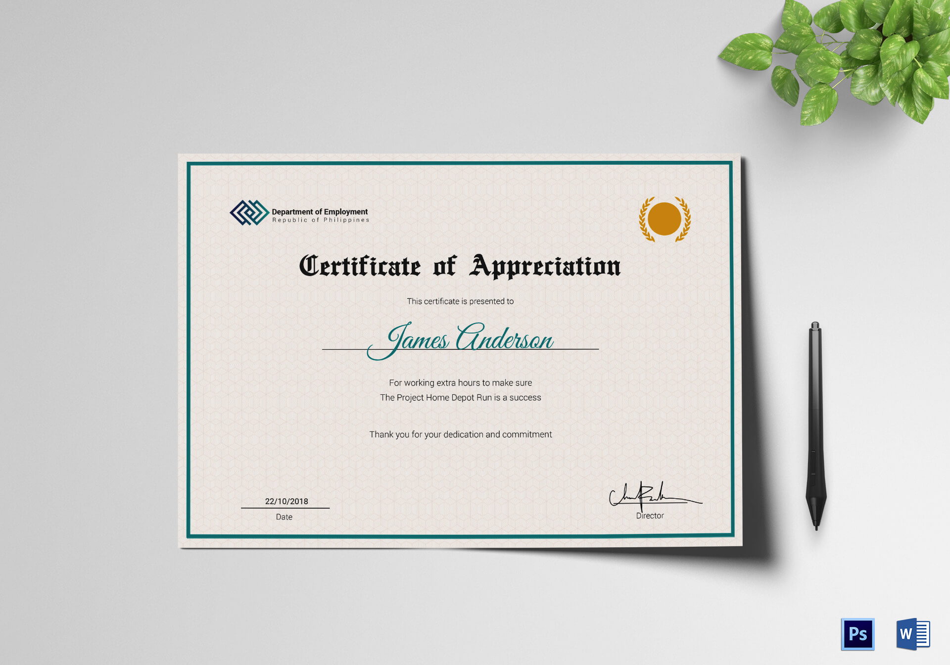 Employee Service Certificate Template With Regard To Employee Certificate Of Service Template