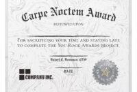 Employee Working Late Funny Certificate Award | Zazzle in Funny Certificates For Employees Templates