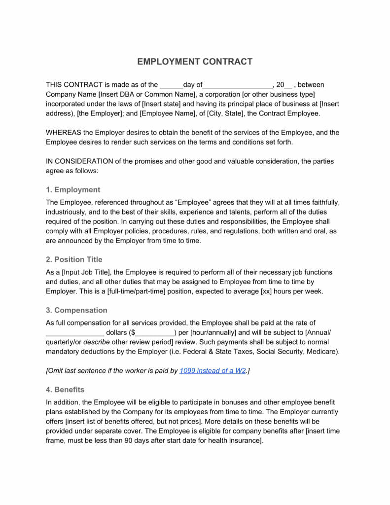 Employment Contract—Definition & What To Include Regarding Corporate Credit Card Agreement Template