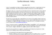 Enfasco Inc Enfasco Inc. Conflict Minerals – Policy with regard to Conflict Minerals Reporting Template