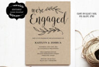 Engagement Invitation Template, Printable Engagement Party with Engagement Invitation Card Template
