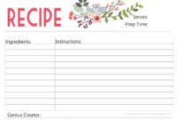 Enjoy A Free Printable Recipe Card Designed ,with Love, inside 4X6 Photo Card Template Free