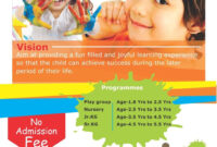 Enrollment | Pamphlet Design, School Brochure, School Admissions inside Play School Brochure Templates