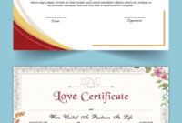 Entry #15Satishandsurabhi For Design A Love Certificate regarding Love Certificate Templates
