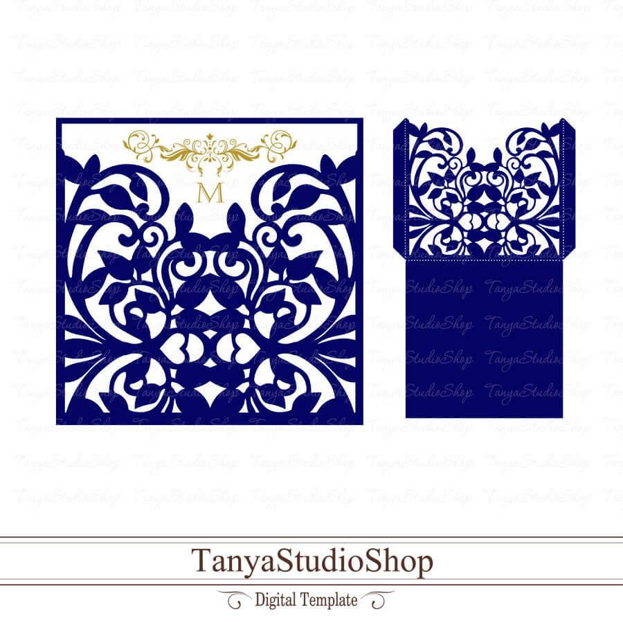 Envelope Template - Svg, Dxf, Ai, Crd, Eps - Card Templates Within Silhouette Cameo Card Templates