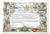 Equator Certificate throughout Crossing The Line Certificate Template