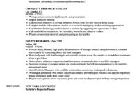 Equity Research Analyst Resume Samples | Velvet Jobs within Stock Analyst Report Template