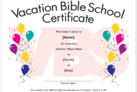 Essential Church Certificates – Children's Edition pertaining to Free Vbs Certificate Templates