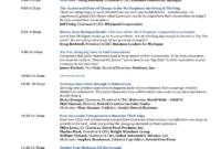 Event Agenda Template – 2 Free Templates In Pdf, Word, Excel in Event Agenda Template Word