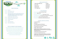 Event Program Template | Program Template, Printable Wedding inside Event Agenda Template Word
