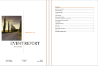 Event Report Template – Microsoft Word Templates throughout Word Document Report Templates