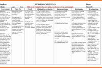 Example Care Plan Template For Elderly Nursing Home throughout Nursing Care Plan Template Word