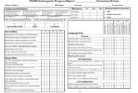 Example Of Progress Report For Students Sample Preschool with Preschool Progress Report Template