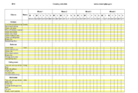 Excel Weekly Cleaning Schedule | Templates At regarding Bin Card Template