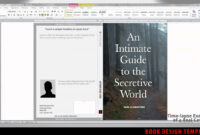 Excellent Book Cover Template Word – Ironi.celikdemirsan regarding How To Create A Book Template In Word