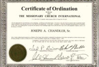 Exceptional Printable Ordination Certificate | Dan's Blog pertaining to Free Ordination Certificate Template