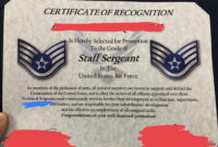 Excited For My Promotion To Sta— Uhh : Airforce for Officer Promotion Certificate Template