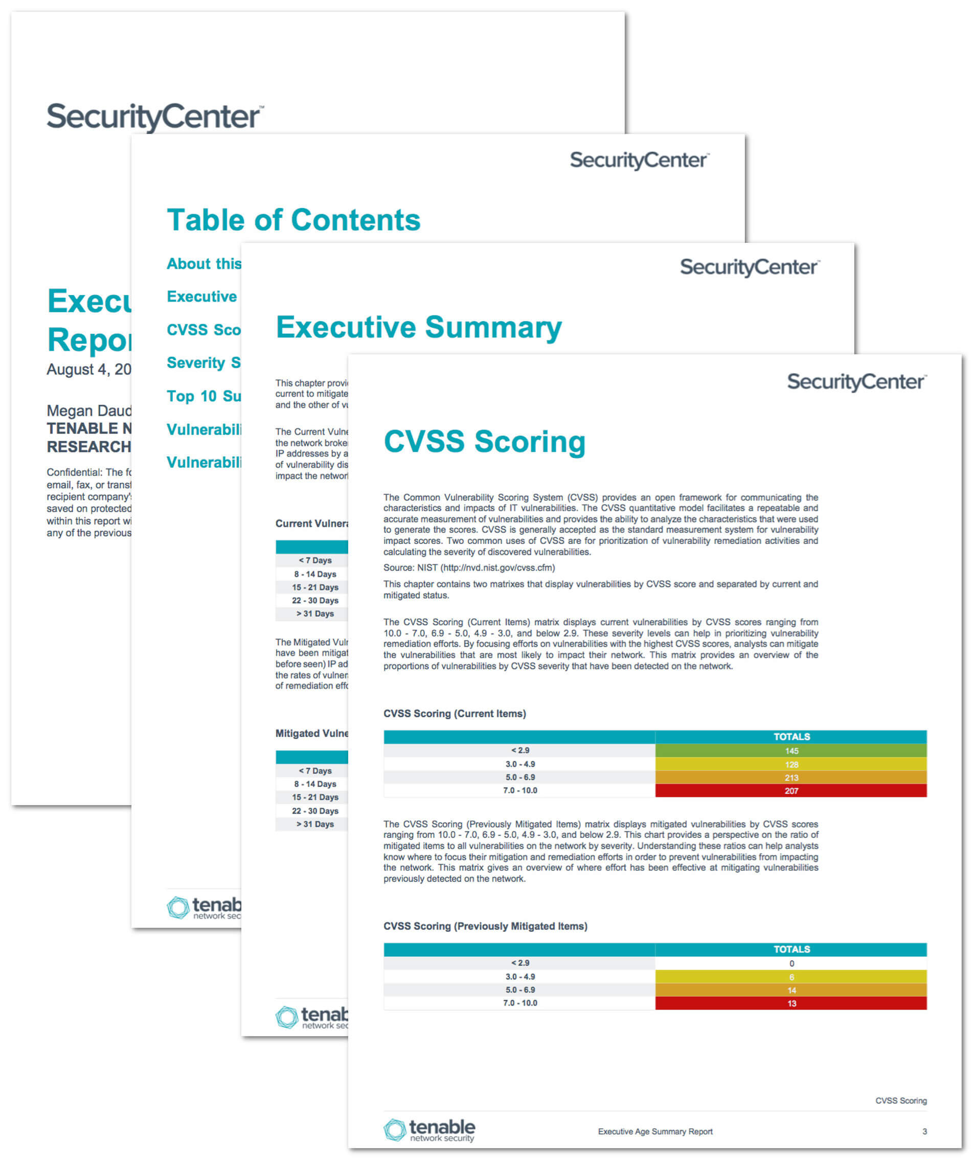 Executive Age Summary Report – Sc Report Template | Tenable® Pertaining To Nessus Report Templates