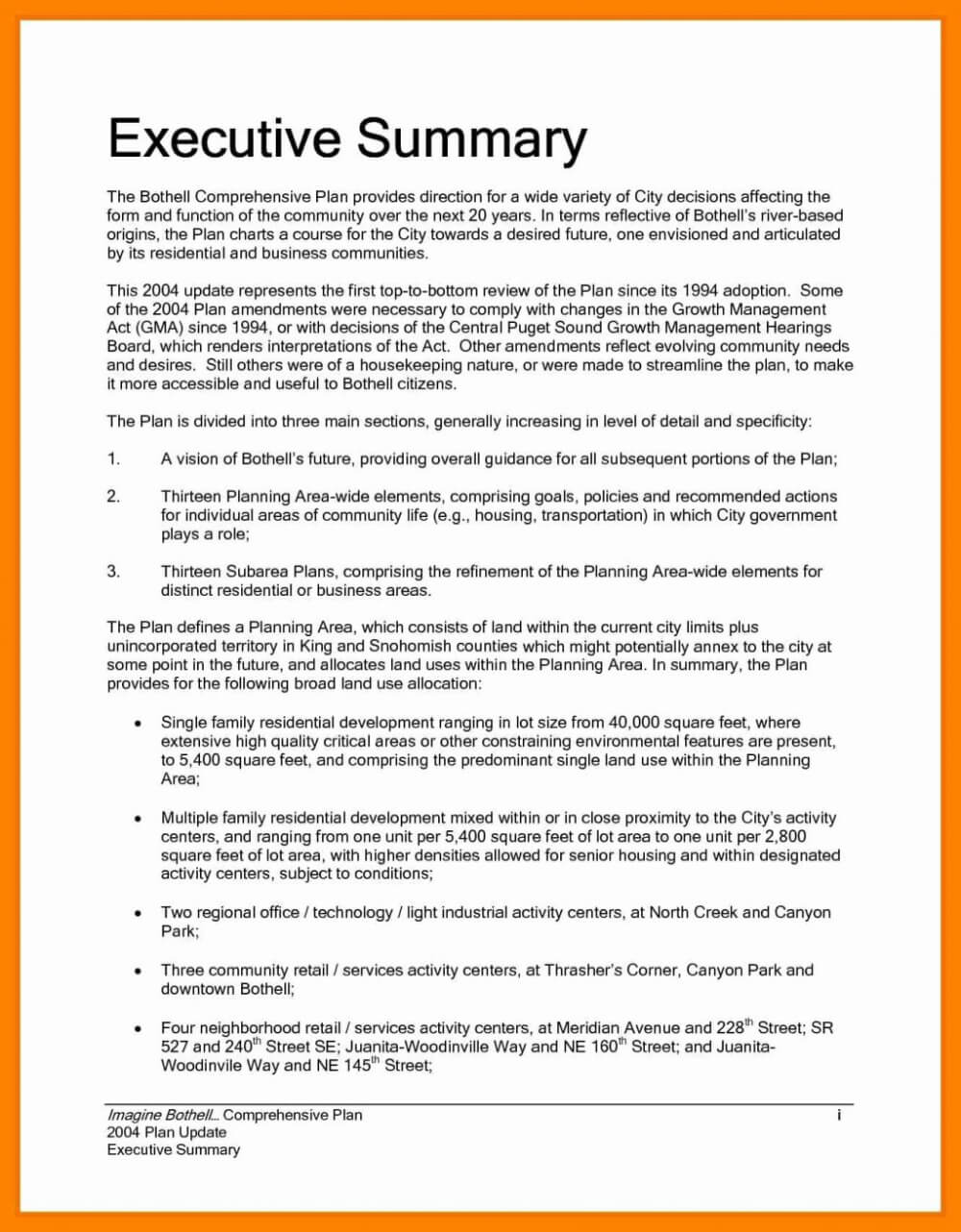 Executive Summary Report Te Status Example Pdf Project For Evaluation Summary Report Template