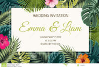 Exotic Tropical Jungle Wedding Event Invitation Stock Vector within Event Invitation Card Template