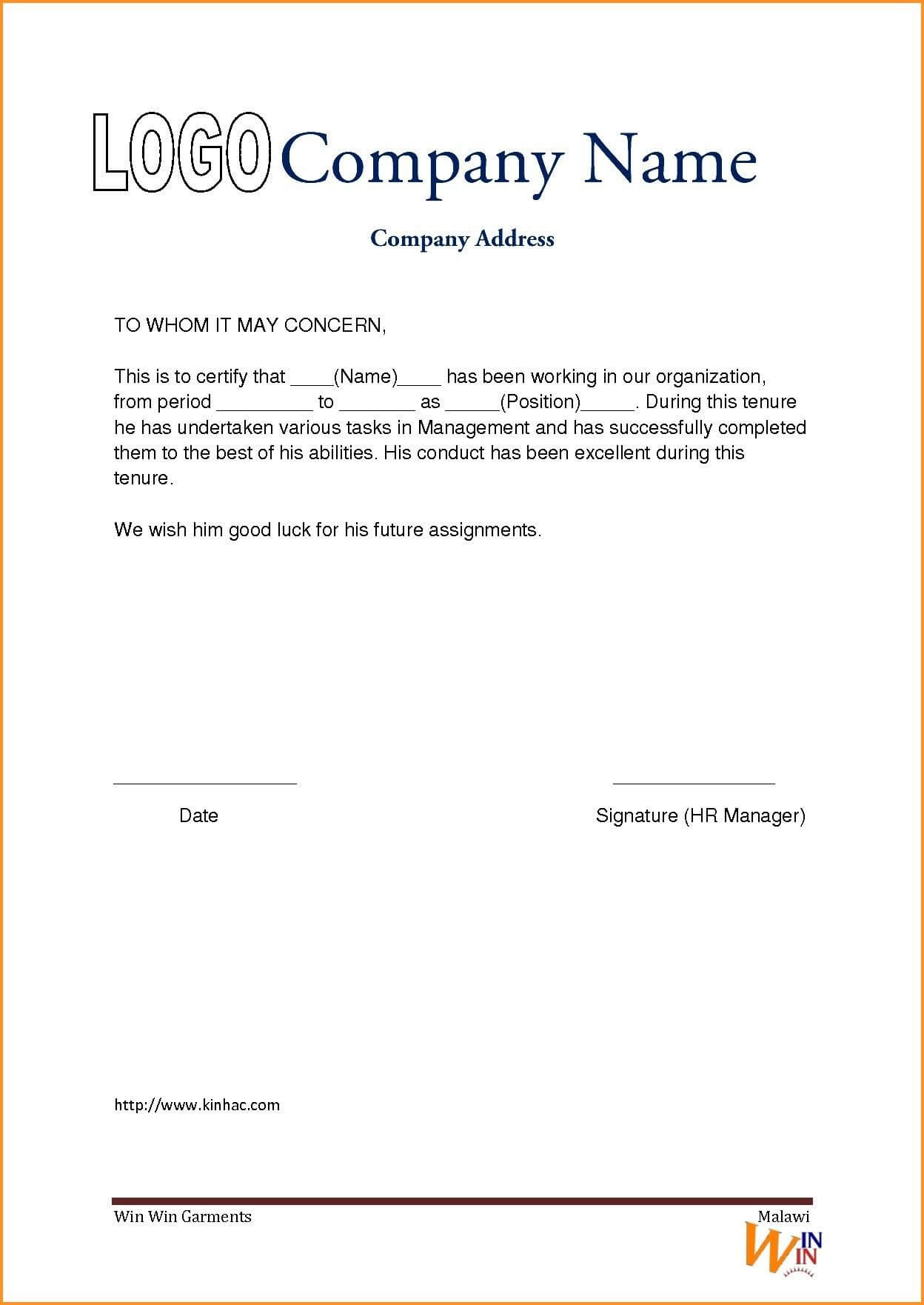 Experience Certificate Format Driverdoc New Experience With Regard To Certificate Of Experience Template