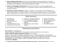 Experienced Qa Software Tester Resume Sample | Monster in Software Test Plan Template Word