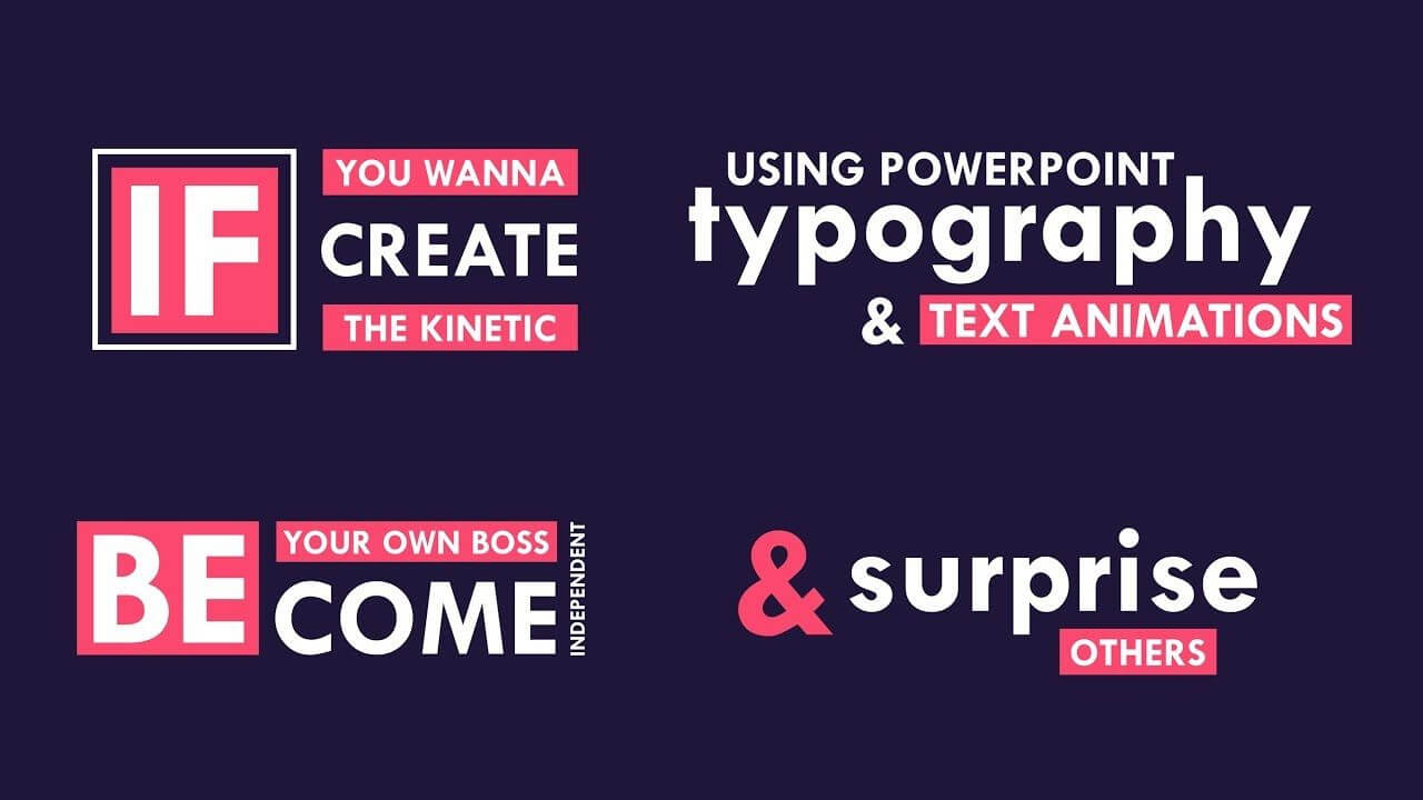 Explainer Video And Kinetic Typography Using Powerpoint Within Powerpoint Kinetic Typography Template