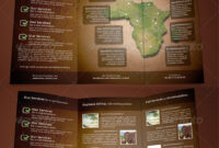 Explore+Africa+Trifold+Brochure | Brochure Design, Travel with regard to Zoo Brochure Template