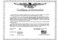 🥰5+ Free Certificate Of Destruction Sample Templates🥰 pertaining to Destruction Certificate Template