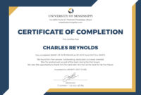 🥰free Certificate Of Completion Template Sample With Example🥰 inside Free Certificate Of Completion Template Word