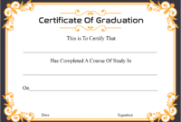 🥰free Certificate Template Of Graduation Download🥰 inside College Graduation Certificate Template