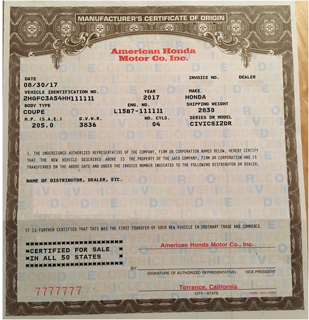 🥰free Printable Certificate Of Origin Form Template [Pdf Throughout Certificate Of Origin For A Vehicle Template